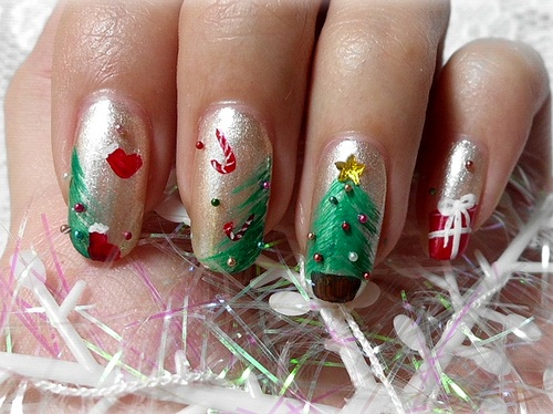 tips ve nail cay thong noel qua de - 10