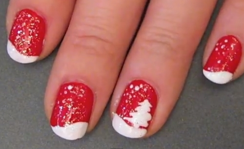 tips ve nail cay thong noel qua de - 1