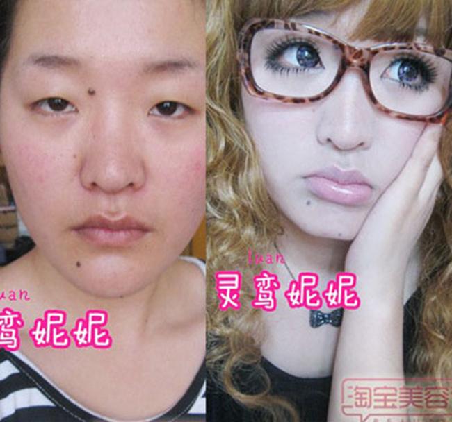 Cô gái này đãbiến đôi mắt 1 mí thành mắt búp bê, biến da xấu thành đẹp nhờ tài make up.