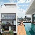 Nhà đẹp - Nhà phố cao tầng đẹp như resort