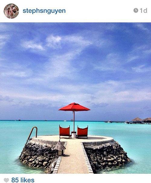 ha tang va gia dinh chong nghi duong o maldives - 1