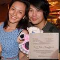 Làng sao - Lộ diện thiệp cưới Thanh Bùi và vợ hot girl