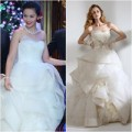 Thời trang - Cận cảnh váy cưới hàng hiệu của vợ Thanh Bùi