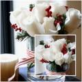 Nhà đẹp - Cắm hoa hồng đẹp đón Tết nồng ấm