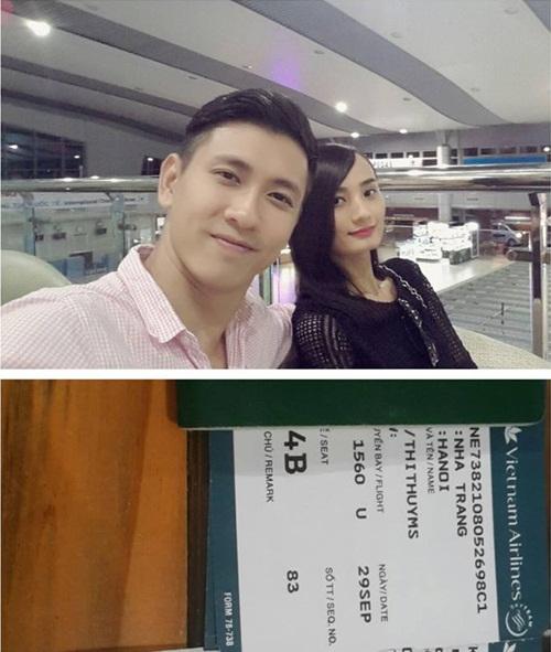 le thuy hanh phuc du lich cung chong sap cuoi - 1