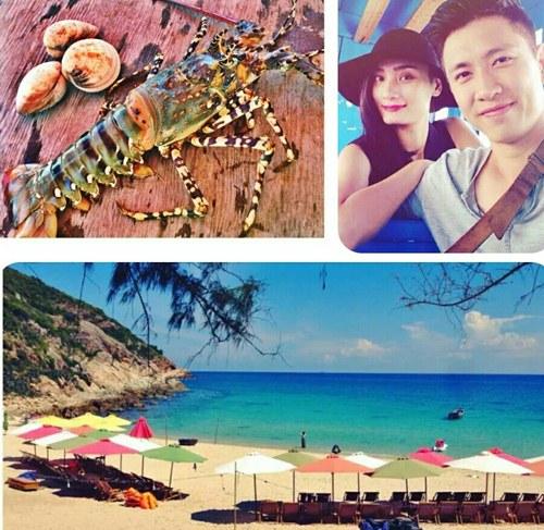 le thuy hanh phuc du lich cung chong sap cuoi - 6
