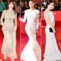 Làng sao - Sao Hàn xúng xính váy áo trên thảm đỏ Busan