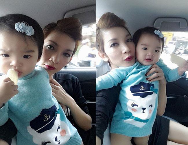 Tuy chưa bao giờ tiết lộ về cha của con gái nhưng cựu mẫu Xuân Lan lại rất chăm khoe ảnh con trên facebook. Bé Thỏ, con gái nữ GK Việt Nam Next top model được nhiều người trêu đùalà giống mẹ nhưng thậm chí còn có phần bụ bẫm, xinh xắn hơn.