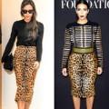 Thời trang - Vic và Kim đọ sành điệu với chân váy bút chì