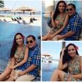 Làng sao - Vợ chồng Thúy Hạnh - NS Minh Khang tình tứ bên bể bơi