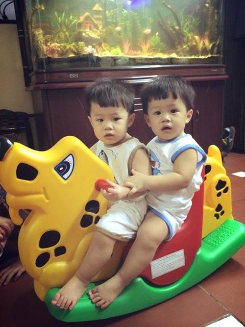 Những nhóc tỳ song sinh đáng yêu của Sao Việt-15