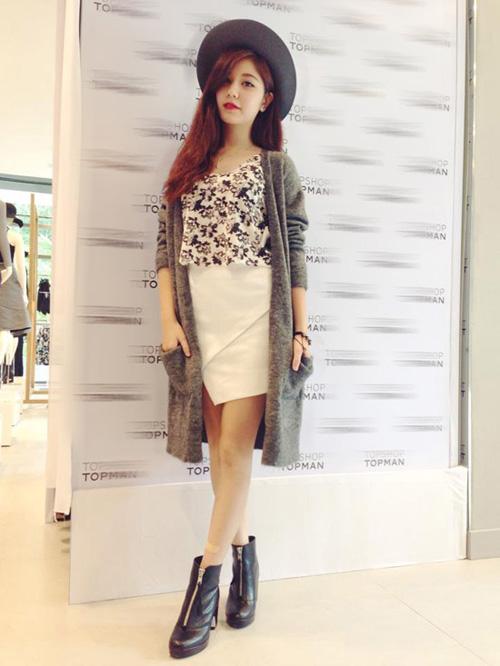 Hotgirl Việt sành điệu với áo cardigan dáng dài - 1