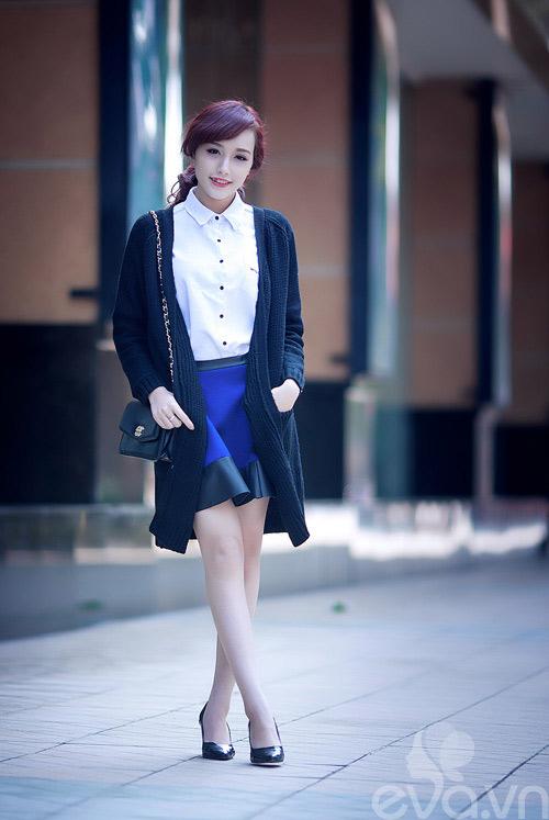Hotgirl Việt sành điệu với áo cardigan dáng dài - 6