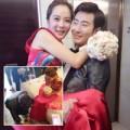 Làng sao - Chae Rim được chồng quỳ gối đi giày trong đám cưới