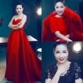 Thời trang - Diva Mỹ Linh U40 lộng lẫy với hai màu đỏ đen