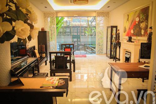 Nhà Hà Nội nổi bật với kiến trúc Á Đông hiện đại