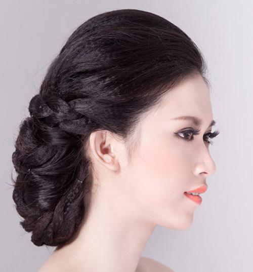 2 kiểu tóc cô dâu đẹp rạng rỡ khiến chú rể ngất ngây - 6
