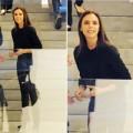 Làng sao - Victoria Beckham nở nụ cười hiếm hoi đón khách