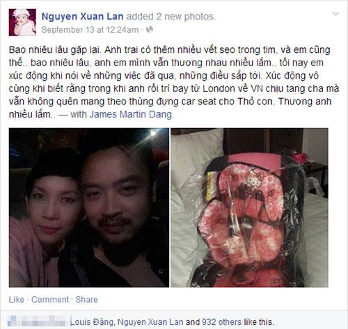 """xuan lan noi """"nuoc doi"""" ve cha ruot cua be tho - 3"""