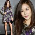 Vợ Jang Dong Gun lộ cằm nhọn bất thường