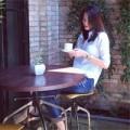 Làng sao - Hà Tăng thảnh thơi ngồi uống café một mình