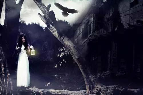 halloween: hot girl truong bao hoa co dau ma - 4