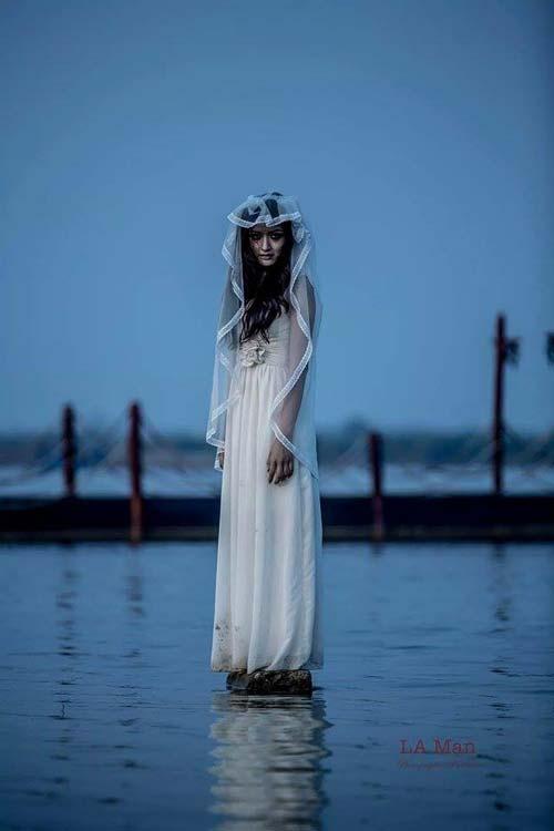 halloween: hot girl truong bao hoa co dau ma - 3