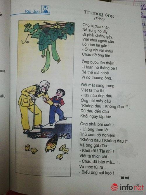 tranh cai noi dung bai tho 'thuong ong' trong sgk lop 2 - 1