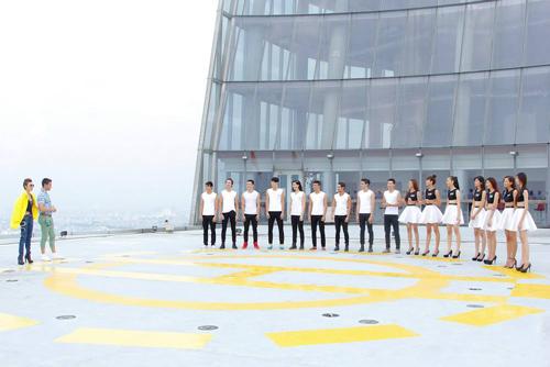 vntm 2014: thi sinh run ray catwalk o do cao 191m - 3