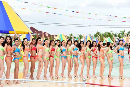 hhvn 2014: ngay ngat ngam thi sinh mac bikini - 2