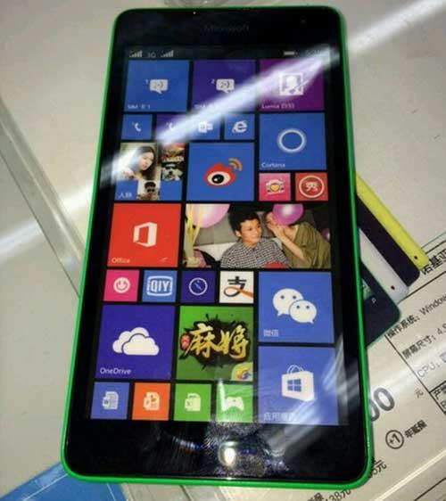 lumia 535 mang thuong hieu microsoft dau tien lo anh - 1