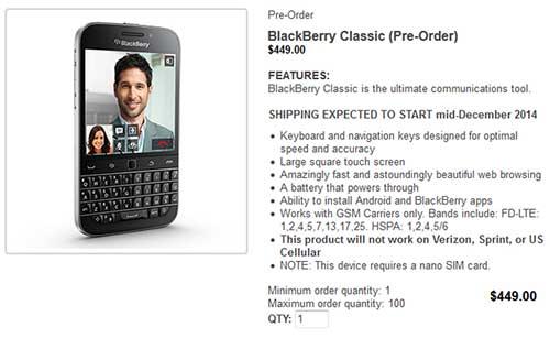 blackberry classic gia ban 9,5 trieu dong, dat truoc tu hom nay - 1