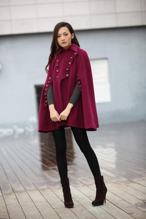 Tư vấn thời trang: Cách mặc áo cape cho nàng nấm lùn - 3