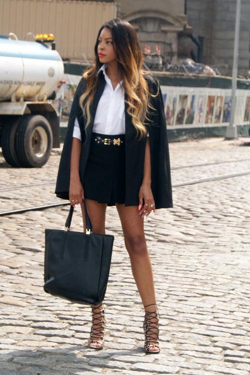 Tư vấn thời trang: Cách mặc áo cape cho nàng nấm lùn - 4