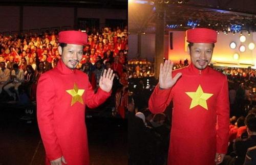 """khanh my tham du """"victoria secret's show"""" luc nua dem - 9"""