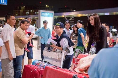 """khanh my tham du """"victoria secret's show"""" luc nua dem - 4"""