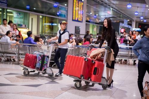 """khanh my tham du """"victoria secret's show"""" luc nua dem - 5"""
