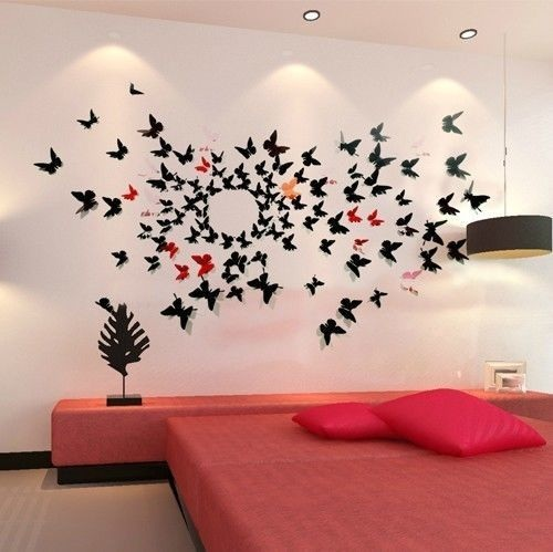 Nửa tiếng bày phòng ngủ như mơ với bướm 3D nghệ thuật-7