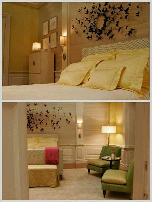 Nửa tiếng bày phòng ngủ như mơ với bướm 3D nghệ thuật-10