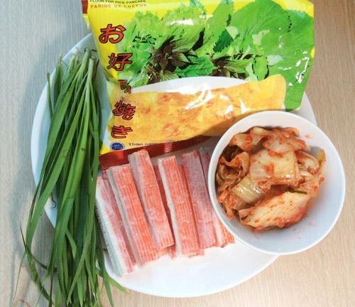 banh xeo kim chi, thanh cua la mieng - 1