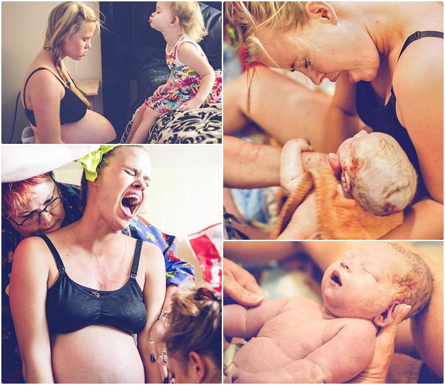 Bộ ảnh sinh nở của mẹ Ashley được thực hiện bởi nhiếp ảnh gia Karyn Carbone - một nhiếp ảnh gia chuyên chụp ảnh mẹ và bé. Vì đã có quá nhiều kinh nghiệm sinh con nên bà mẹ này đã quyết định sinh thường tại nhà.