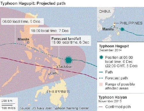 bao hagupit hoanh hanh philippines, it nhat 4 nguoi chet - 2