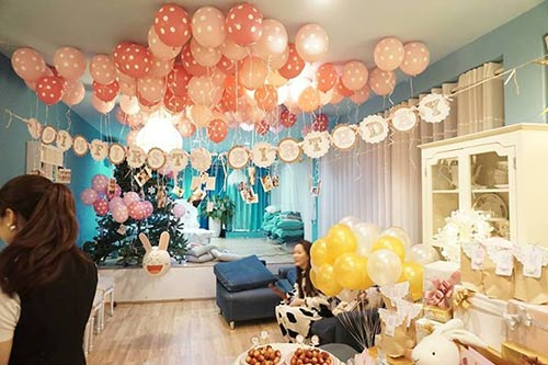 Trang trí sinh nhật tại nhà với bong bóng