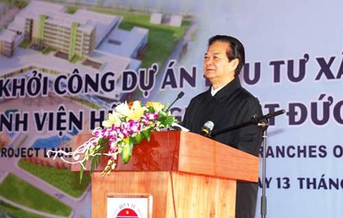thu tuong phat lenh khoi cong hai benh vien lon - 1