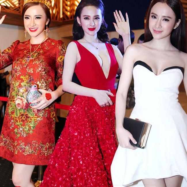 1. Angela Phương Trinh: Xứng đáng được kể đến đầu tiên trong danh sách 'Các nữ hoàng thảm đỏ của năm 2014'.