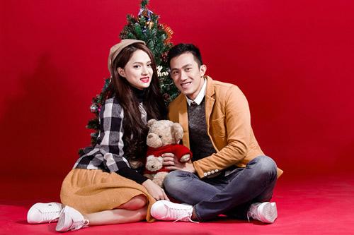 noel ngot ngao cua huong giang idol va ban trai - 1