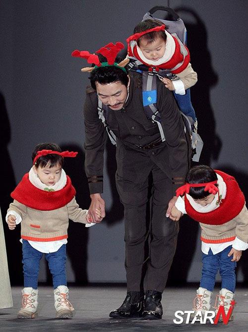 sao truyen thuyet jumong khoe cap sinh ba dang yeu - 10