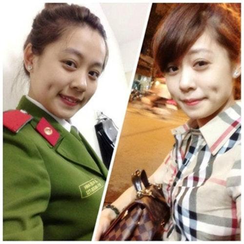 nhung nu sinh canh sat lam chao dao cong dong mang 2014 - 6