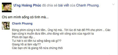 muon facebook doi no: showbiz viet 'ha be' nhau de doi tien? - 7