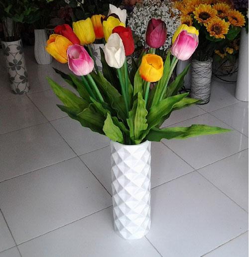 trang tri nha voi hoa gia, hoa vai cao cap - 1